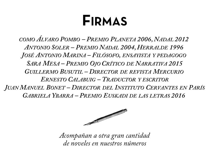 TALES: la revista del relato corto. Álvaro Pombo, Sara Mesa, Antonio Soler, Ernesto Calabuig, Guillermo Busutil, Gabriela Ybarra...