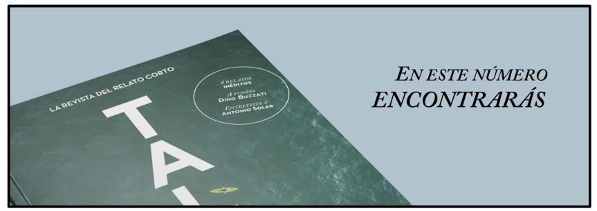 TALES, la revista del relato corto - publica tus cuentos y relatos