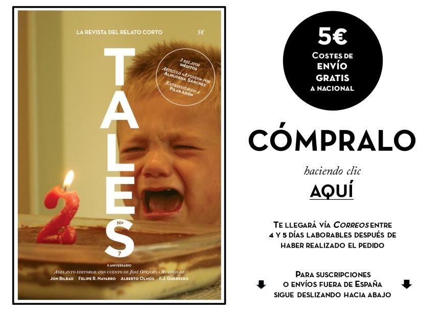TALES. Revista de cuentos - Pilar Adón - José Ovejero - Jon Bilbao
