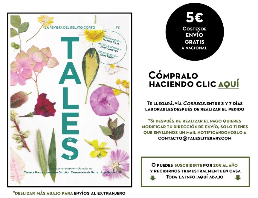 TALES. Revista de cuentos - Carmen Martín Gaite - Manuel Vilas - Eloy Tizón - Antonio Ortuño. Revista española de cuentos