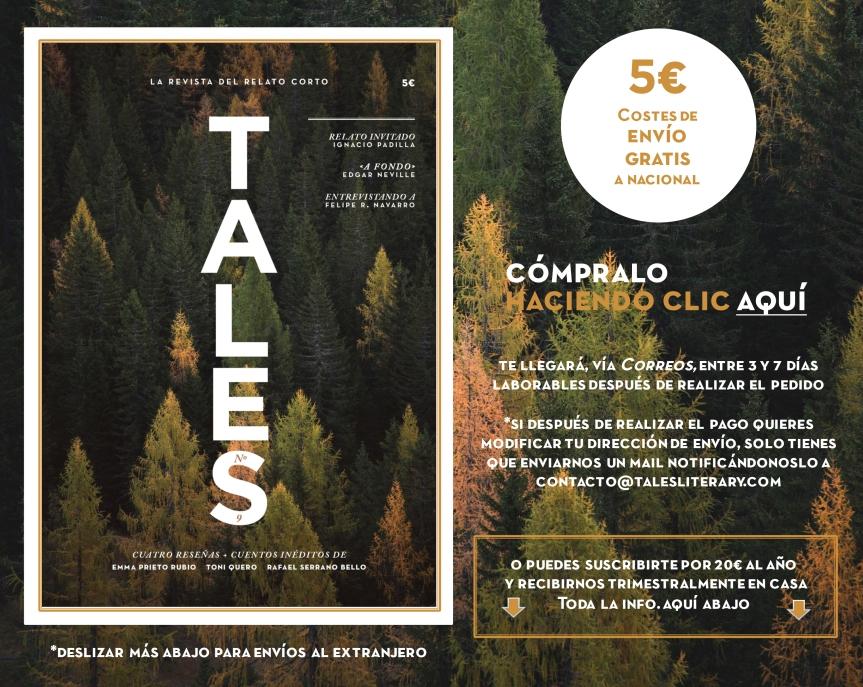 TALES. Revista literaria de cuentos - Edgar Neville, Felipe R. Navarro, Ignacio Padilla y Toni Quero.