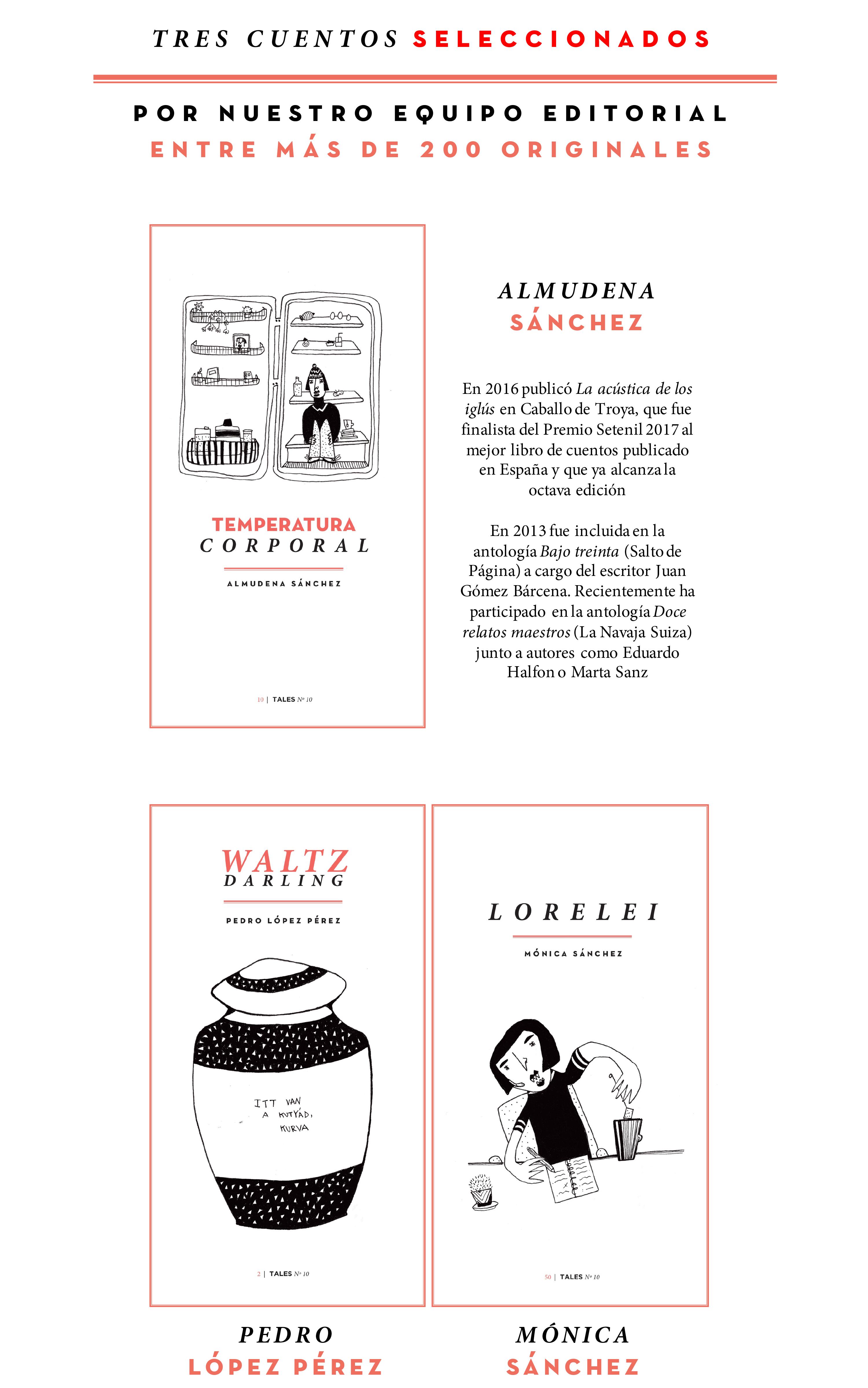 TALES. Revista literaria de cuentos - AM Homes, Álvaro Pombo, Mariana Enríquez, Almudena Sánchez, Raymond Carver. Revista española de cuentos.