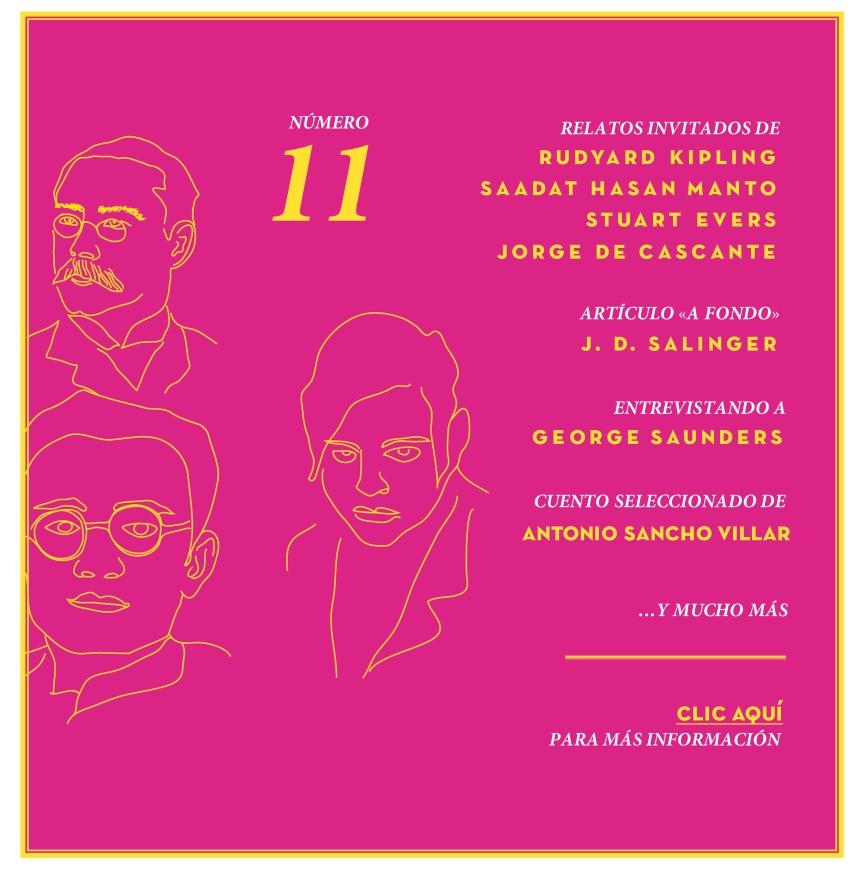 TALES. Revista literaria de cuentos - Rudyard Kipling, Hasan Manto, Stuart Evers, JD Salinger, George Saunders y Jorge de Cascante.